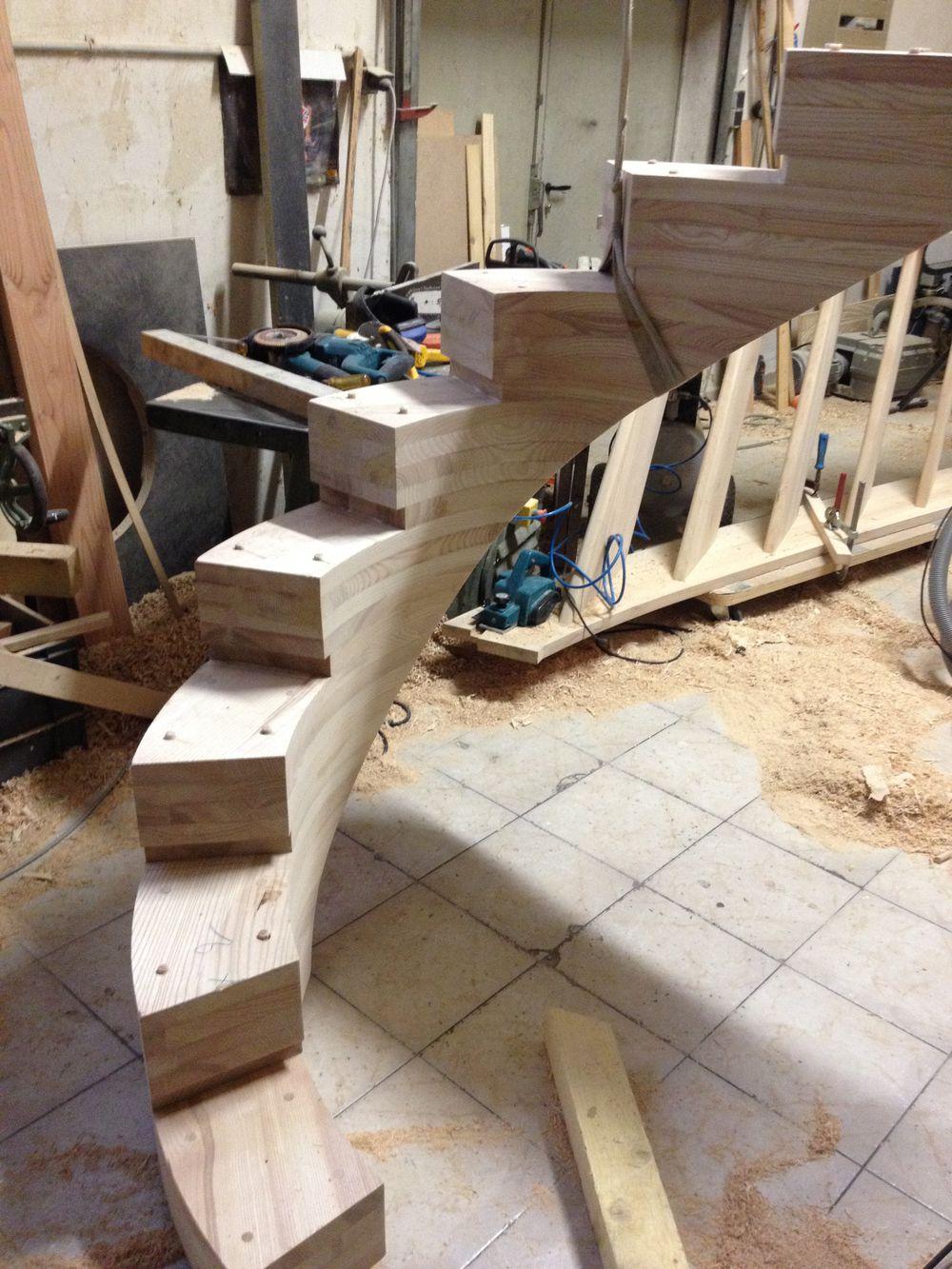 escalier cr maill re centrale d billard e en fr ne massif charpente 38 entreprise afd. Black Bedroom Furniture Sets. Home Design Ideas