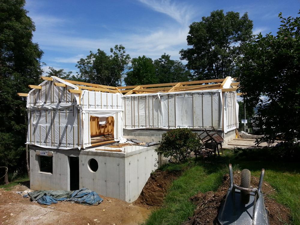 Réalisation dune maison ossature bois à AixlesBains  Charpente 38  E